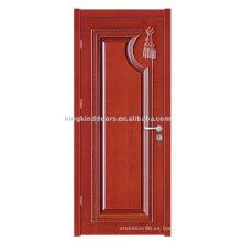 Puerta de madera de JKD-ML8006 puerta de madera sólida para el diseño comercial y precio barato