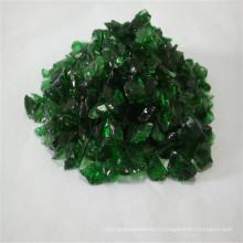 Verre concassé coloré recyclable pour verre de construction