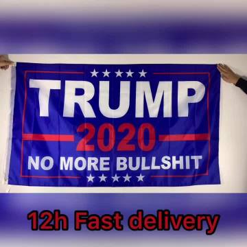 TRUMP Star Train Flags Banner