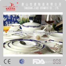 hot sales durable heavy gold restaurant hotel porcelain kitchenware wholesale made in china