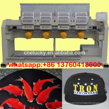 Hot sale quatro head cap / shoes / t-shirt bordado máquina / máquina de costura