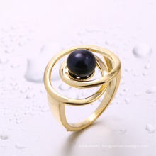 china manufacturer jewelry findings black pearl ring gold ring for girl