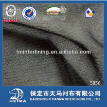 warp knitted fusible interlining for classic jacket and suit