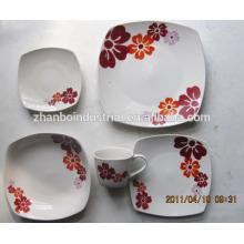 Nouveau produit design coloré en porcelaine / set de dîner en céramique