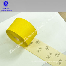 yellow waterproof sand paper belt