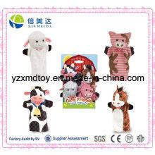 Marionetas de la mano de los amigos de la felpa de la felpa de encargo