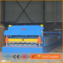 Azotea máquina de azulejos esmaltados con precio barato, hoja de techo corrugado que hace la máquina