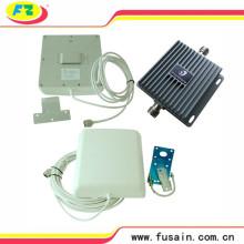 Kit completo GSM / 3G WCDMA 850/2100 850MHz / 2100MHz Banda dual 65dB Repetidor de señal de teléfono móvil