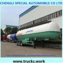 45000liters Gas líquido acoplado tanque de GLP transporte semirremolque para ventas