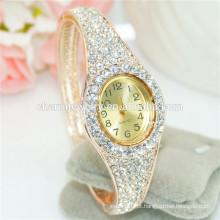 Elegante senhoras moda personalizado strass bracelete digital assistir b085