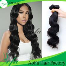 Extensão barata do cabelo humano do Virgin do Weave do preço 100% não processado