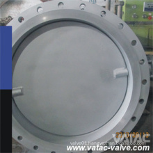 Double Eccentric/Two-Offset Double Flanged Stainless Steel A351 CF8m/Ss316 Butterfly Valve