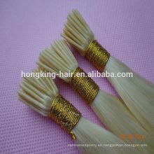18 pulgadas doble rubia dibujada inclino extensiones de cabello al por mayor