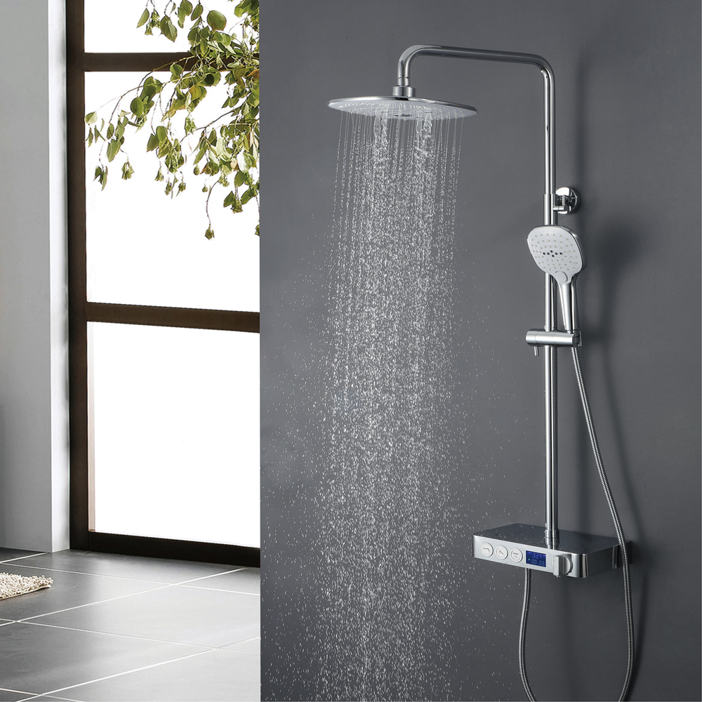 Digital theromstatic shower faucet