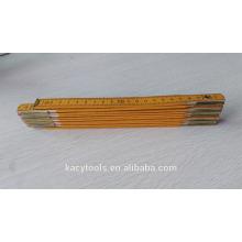 Règle pliante en bois de 200 cm avec impression logo