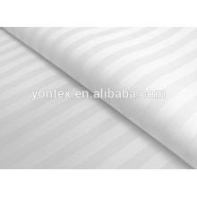 100% cotton 3cm stripe satin fabric for 5 star hotel