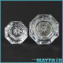 Fabricação personalizada de botões octogonais de vidro para armário