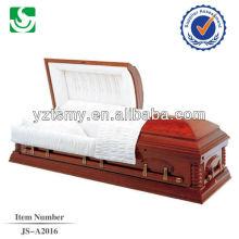 Custom painted high quality wood casket wholesaler