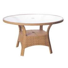 Mesa de Patio de jardín de mimbre de la resina al aire libre muebles rota