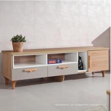 Muebles de diseño de mesa de la última consola de TV colorido