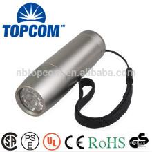 Cheap 9 led torch flashlight aluminum torch personalized mini flashlight