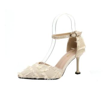 Весна новый дизайн стильная тонкая обувь на высоких каблуках
