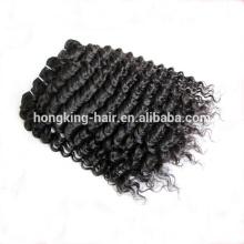 Cabelo peruano do Virgin profundo da extensão do cabelo humano da onda 100 do comércio garantia