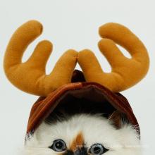 Chapeau de chapeau de cerf de Noël d'Halloween pour le chat du petit chapeau de chat