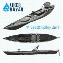 4.3m Longitud PE Kayak Pesca Sots Diseño de Liker