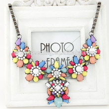 2014 New Fashion Design Vintage Antique Retro Necklaces Gem Stone Statement Choker Necklace For Lady Wedding Gift