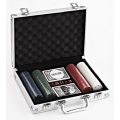 200pcs Professional Casino  Poker Chips Set In Aluminum Box