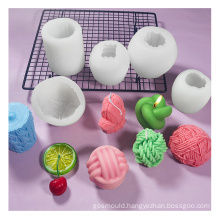 new DIY wax tool geometric large decorative knot twisted candle making mould silicone candle molds twist