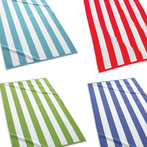 Striped 2 Person Oversized Jumbo  Beach Towels