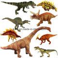 Dinossauro plástico pequeno colorido vivo do brinquedo