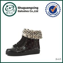 botas de lluvia duraderas de la lluvia de la cubierta del zapato D-615