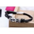 Neue Doppelschädel Magnetverschluss Titan Stahl geflochten Armband