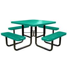 Aço carbono, sala de jantar mesa com 4 lugares