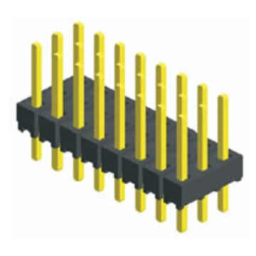 2.00mm Pin Header Three Row Straight Type