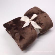 couverture polaire lavable chaude d'hôtel polaire de corail de polyester