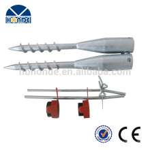 Customized Made High Quality Ground Screw Anchor With Flange For Solar Mounting