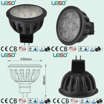 Tamanho Padrão Único 500lm MR16 LED Spot Light (LS-S505-MR16-NWW / NW)