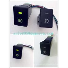 Interruptor da luz de névoa de Toyota 12V substituição do OEM de 3 ampères on-off Interruptor de Camry com luz verde dupla do diodo emissor de luz