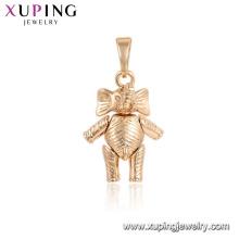 33700 Xuping adorável animal pingente pingente de forma elefante 18K