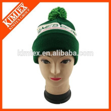 fashion jacquard designer beanie hat with letters