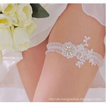 Romantische Weinlese-Spitze-Strumpfbandrhinestone-Kristallbraut-Perlen-Hochzeits-Strumpfband