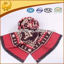 Vente en gros Custom Fabricant 100% soie écharpe promotionnelle