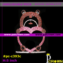 Ab heart bear valentines pageant tiara crown