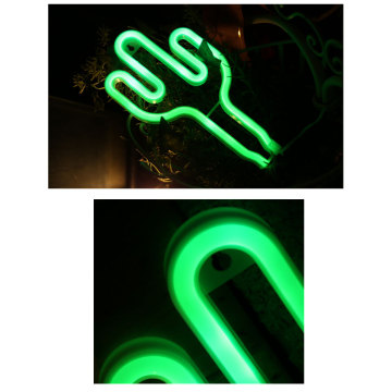 Cactus Custom LED Neon Light Signs Batteridriven