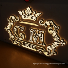 3D Lighting Acrylic Mini LED Channel Letter Sign Custom Design Logo Board Outdoor Indoor Led signage