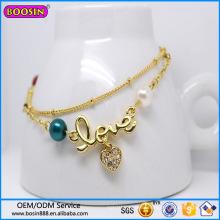 Custom High Quality Fashion Jewelry Heart Shape Bracelets #31456